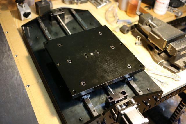 CNCフライス Y軸土台の取り付け