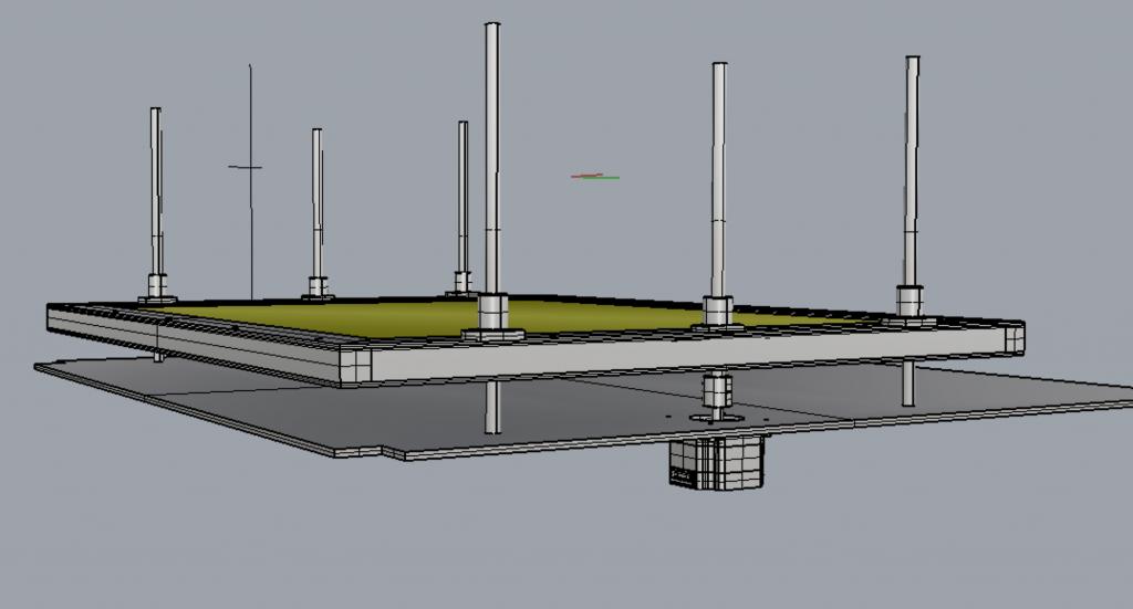 自作レーザーカッターのテーブルと上下動のためのステッピングモータ。