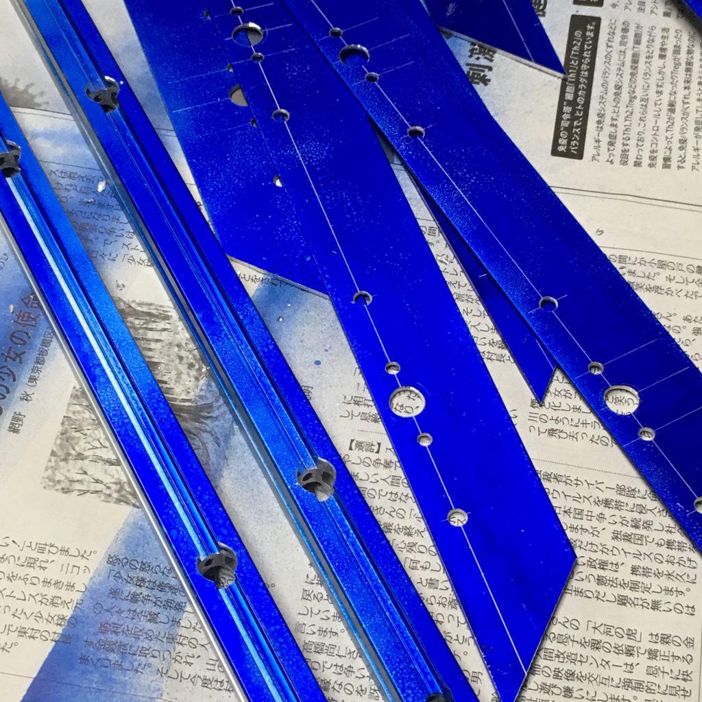 自作レーザーカッターのテーブルのフレームの作成過程。